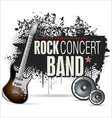 Rock concert grunge banner vector image vector image