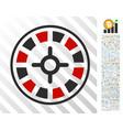 roulette flat icon with bonus vector image