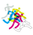 runner fitness people vector image vector image