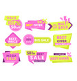 sale labels color set vector image