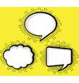 set blank pop art comic book speech bubble vector image vector image