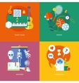 Set of flat design concept icons for school and vector image vector image