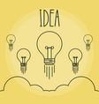 set of light bulbs idea icon vector image vector image