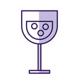 shadow cartoon glass wine vector image vector image