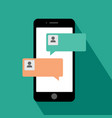 smartphone chat messages notification vector image vector image