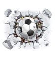 Soccer ball and old plaster wall damage vector | Price: 1 Credit (USD $1)
