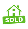 sold house flat vector image vector image