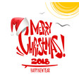 summer merry christmas lettering vector image vector image
