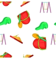 Swings for kid pattern cartoon style vector image vector image