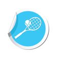 tennis BLUE LABEL vector image vector image