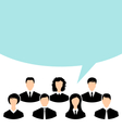 unity of business people team with speech bubble vector image