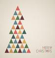 Vintage retro grunge Christmas tree vector image vector image