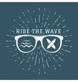 Vintage Surfing Graphics and Emblem for web design vector image vector image