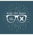 Vintage Surfing Graphics and Emblem for web design vector image vector image