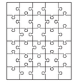 white puzzle 24 vector image vector image