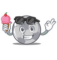 with ice cream football character cartoon style vector image vector image