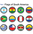 World flags South America vector image