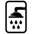black shower icon vector image