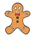 cookie man icon cartoon vector image