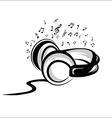Headphone sketch vector image