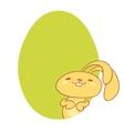 adorable bunny rabbit cartoon character vector image