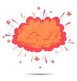 Boom cloud of Comic Pop Art style vector image