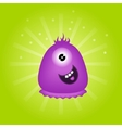 Cute violet monster with one eye vector image