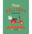 Vintage delivery poster with old typography and vector image