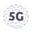 5g sticker online wireless system connection vector image vector image