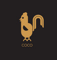 abstract rooster icon design vector image vector image