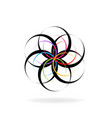 abstract spiral flower vector image vector image