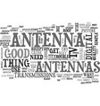 antenna how one works text word cloud concept vector image vector image