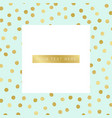 background with gold dots pattern vector image vector image
