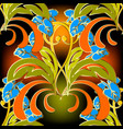 baroque colorful seamless pattern abstract leafy vector image