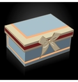 Beautiful gift box with a bow on a black vector image vector image