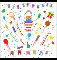 birthday party symbols collection vector image vector image