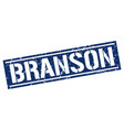 branson blue square stamp vector image vector image
