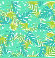 bright tropical leaves vector image vector image