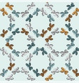 butterflies ornament seamless pattern vector image vector image