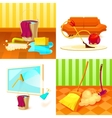 Cleaning Service Icon Set vector image vector image
