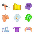 convention icons set cartoon style vector image