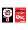 covers design info about xmas and new year sale vector image