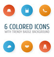 dress icons set collection of singlet heel vector image vector image