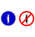 Earwig silhouettes vector image vector image