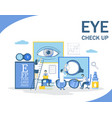 eye check up flat style design vector image