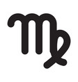 flat black virgo sign icon vector image vector image