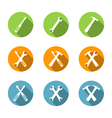 Flat Tools Icons vector image vector image