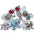flies characters group cartoon vector image vector image