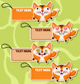 Four cute cartoon Foxs stickers vector image vector image