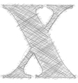 Freehand Typography Letter x vector image vector image